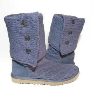 UGG Lattice Cardy Sweater Boots